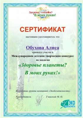 Международный конкурс Дипломы Экология_2