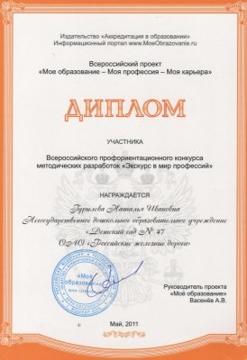 Профессии сертификат